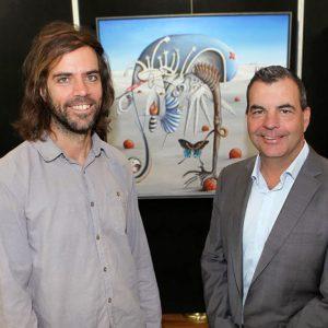 Jem Ham and Mayor Mark Irwin at Art awards